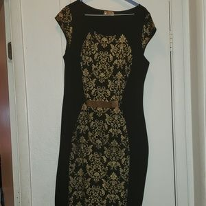 Black and Gold Dress 1x